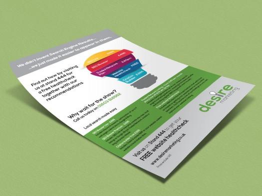 Desire Marketing leaflet - PX2 Portfolio
