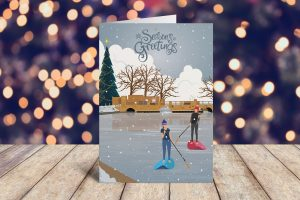 Horstead paddleboarders Christmas Cards