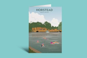 Horstead swimmers A6 card