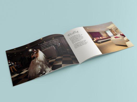 A5 landscape wedding brochure