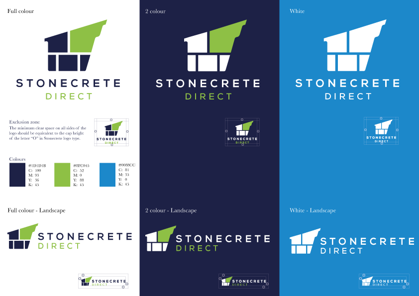 Stonecrete logo design