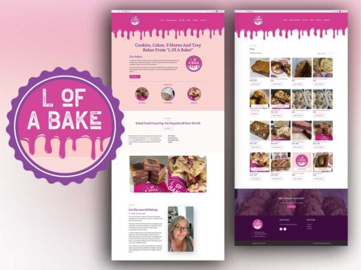 L-of a bake brand identity and website